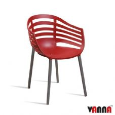 Vanna Lite Arm Chair - Red